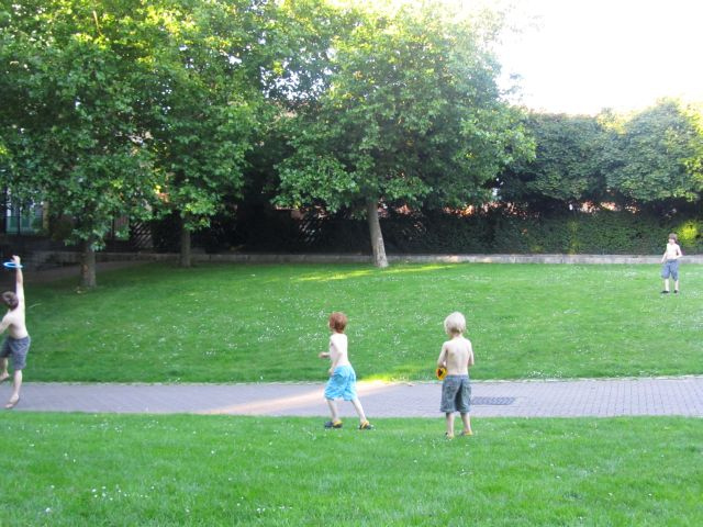 Playing Frisbee beside Greenland Dock London