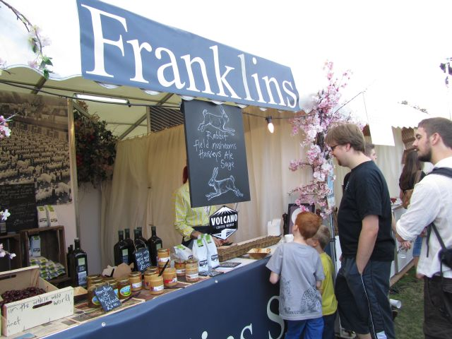 Franklins stall at Jamie Olivers Feastival