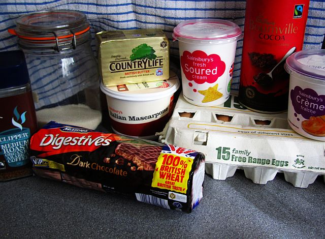 Cappuccino Cheesecake Ingredients