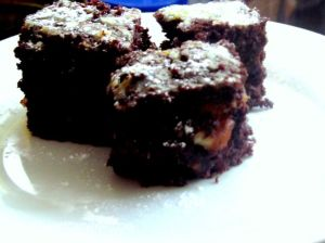 wholemeal chocolate and orange brownies