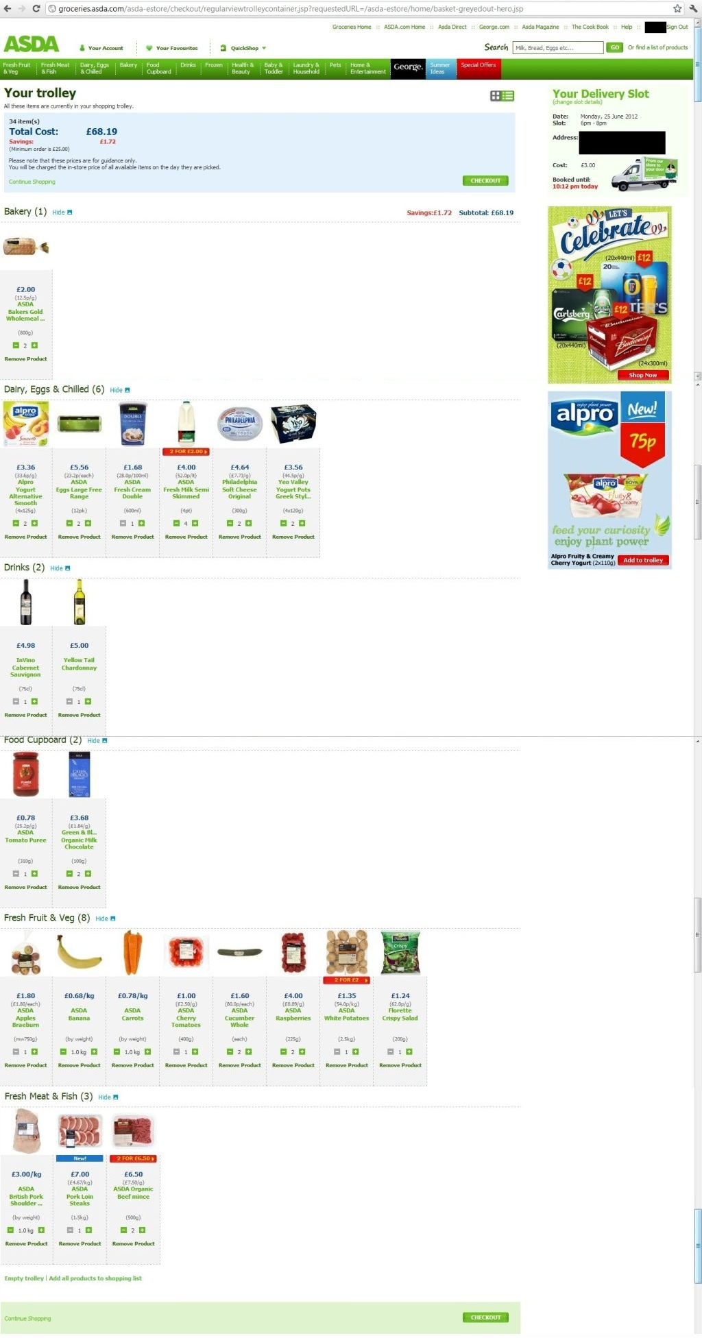 Asda Online Food Shopping Uk