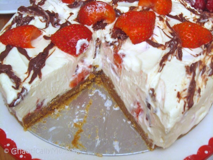 strawberry and whisky cheesecake