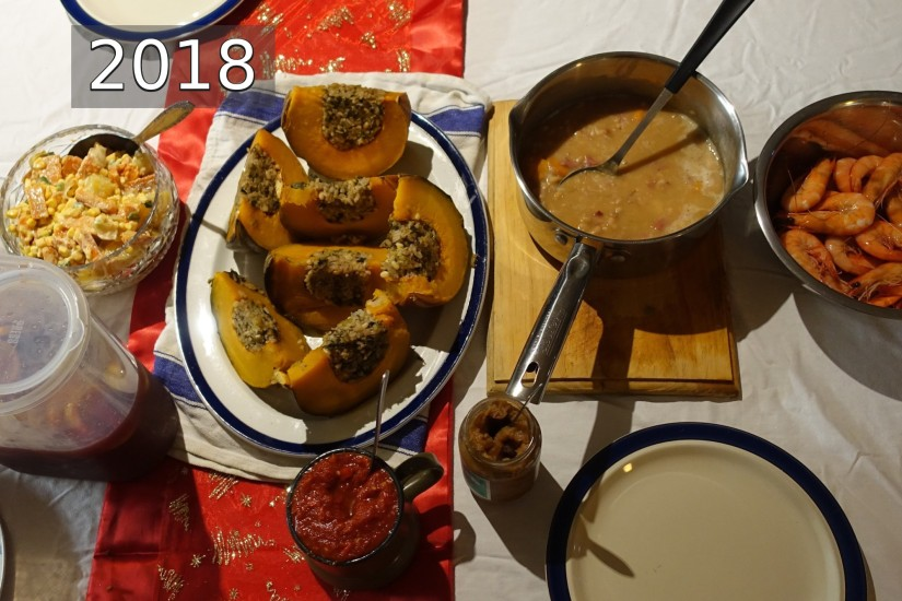 numberedchristmas dinner 2018